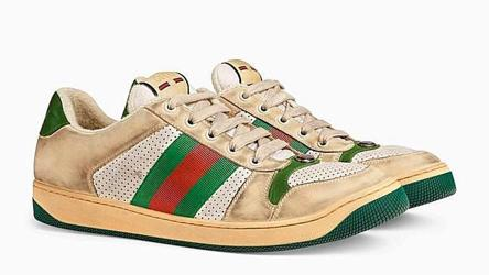 Gucci sells bizarre dirty-looking shoes
