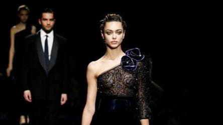 Giorgio Armani Presents A Rhapsody In Blue At Milan Fashion Week Fashion And Trends Hindustan Times