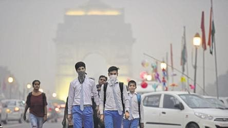 Hazy morning in Delhi, air quality dips to poor again