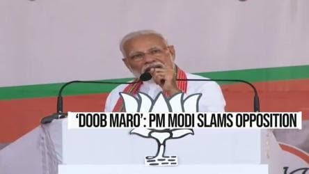 PM Modi's 'doob maro' jibe at Opposition over Art 370 | Maharashtra polls