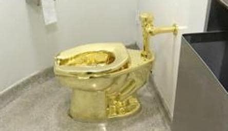 UK Cop try to track gold toilet 'America'; 5 held on suspicion of burglary