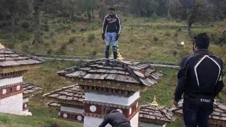 Indian tourist detained in Bhutan for desecrating Buddhist 'chorten'