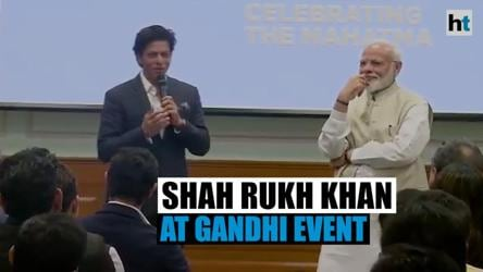 'Gandhi ji 2.0 is what we need': Shah Rukh Khan at PM Modi's event