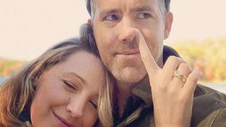 Blake Lively Wishes Husband Ryan Reynolds A Happy Birthday By Sticking Finger Up His Nose See Pic Hollywood Hindustan Times