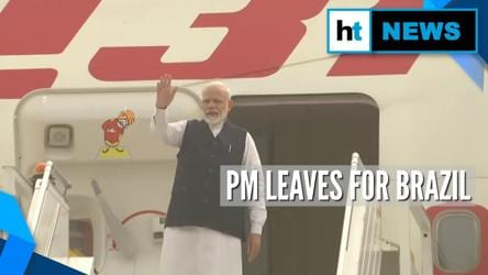 PM Modi leaves for Brazil to attend 11th BRICS Summit: Here's his itinerary