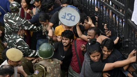 Monday's protest by JNU students was months in the making