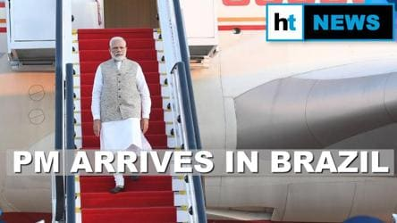 Watch: PM Modi's message in Portuguese after arrival in Brazil | BRICS meet