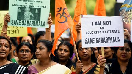 Supreme Court refers entry of women to Sabarimala to larger bench