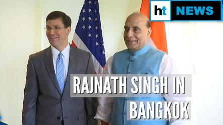 Rajnath Singh meets US, Japan Defence Ministers at ASEAN meet in Bangkok