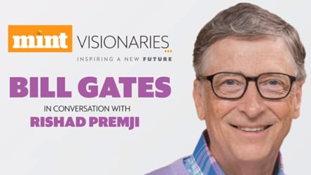 Live: Bill Gates in conversation with Rishad Premji I Mint Visionaries
