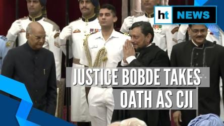 Justice SA Bobde takes oath as 47th CJI, succeeds Ranjan Gogoi