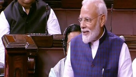 In PM Modi's Rajya Sabha speech, a surprise praise for 2 opposition parties