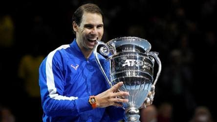 Rafael Nadal ends year as world number one for fifth time