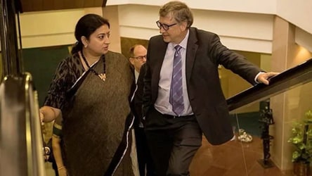 Smriti Irani shares photo with Bill Gates with a whip-smart caption