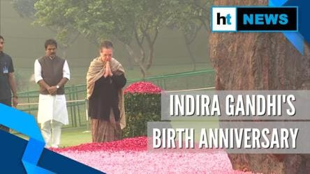 Sonia, Manmohan Singh pay tribute to Indira Gandhi on her birth anniversary
