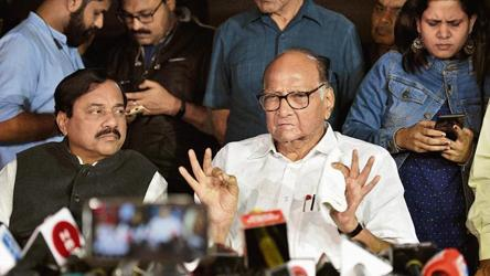 'Need to talk more': Sharad Pawar after meeting Sonia Gandhi