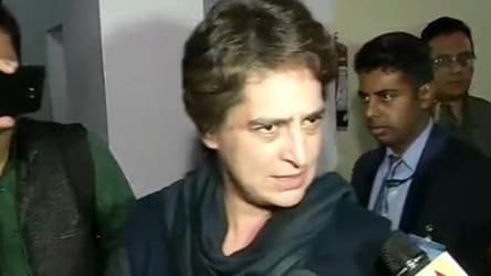 Priyanka Gandhi's one-line answer to withdrawal of Gandhis' SPG cover