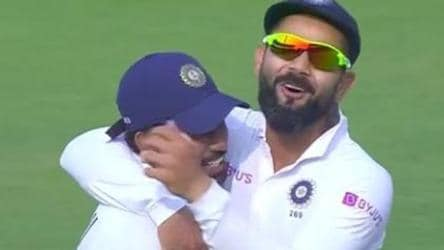 Saha leaves Kohli, Shastri in awe after spectacular catch - Watch