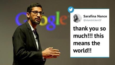 Sundar Pichai applauds woman who scored 0 in quantum physics exam