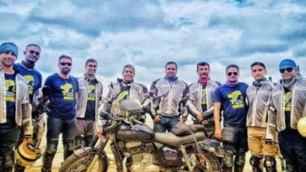 Sea soldiers turn hill heroes: Navy personnel bike in northeast to inspire youth
