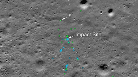 Nasa finds Vikram lander's debris on moon, tweets pic of impact site