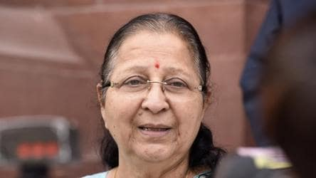 Couldn't speak against BJP in MP, asked Cong to raise issues: Sumitra Mahajan