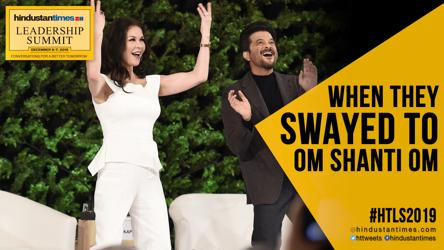 Catherine Zeta-Jones, Anil Kapoor match steps to 'Om Shanti Om' at #HTLS2019