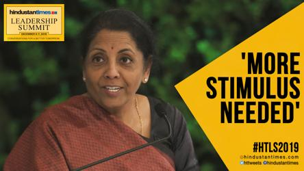 Does economy need fresh stimulus? Watch FM Nirmala's reply at #HTLS2019