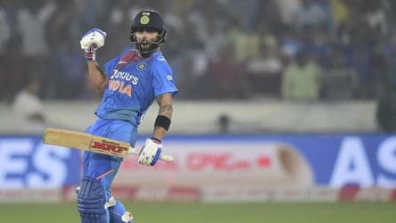 Virat Kohli 3 runs away from creating T20I World Record
