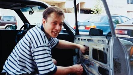 Circle complete: Elon Musk's mother shares old photo of him repairing car window