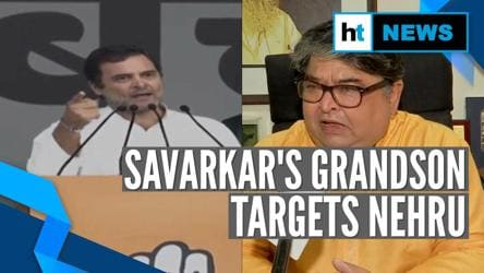 Savarkar's grandson targets Nehru after Rahul Gandhi's remark at Delhi rally