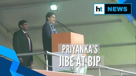 WATCH: Priyanka Gandhi hits out at Modi govt over onion price, unemployment