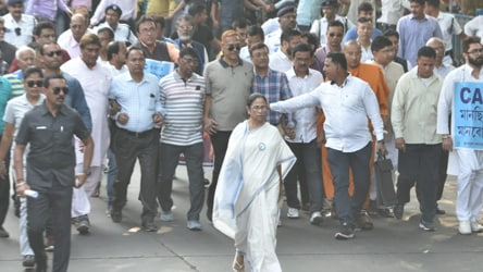 'Over my dead body': Mamata Banerjee leads mega rally against Citizenship Act