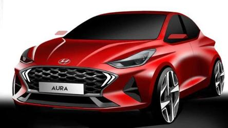 Hyundai Aura's design renders revealed, promises sporty character to sedan