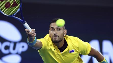 Kyrgios Turns On The Style To Defeat Tsitsipas In Atp Cup Tennis Hindustan Times