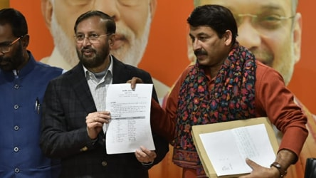 BJP names 57 of 70 candidates for Delhi polls scheduled for February 8