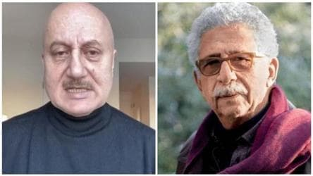 Anupam Kher fires back at Naseeruddin Shah in video message