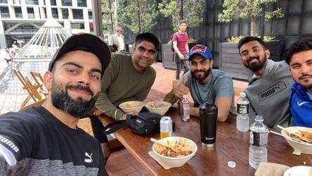 Kohli shares photograph of 'good meal' with Team India mates from Auckland