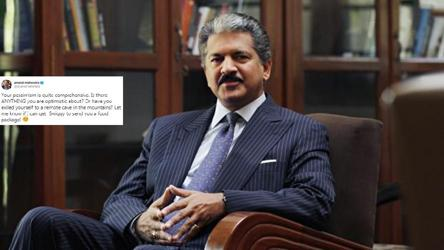 'You are stupid,' man tweets Anand Mahindra. His reply is polite yet savage