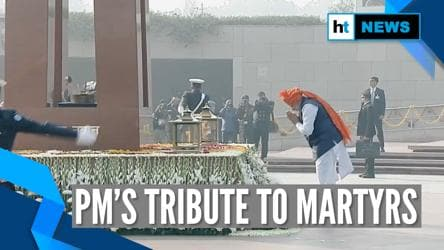71st Republic Day: PM Modi pays homage to Indian martyrs at National War Memorial