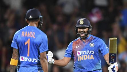 Rohit's twin Super Over sixes seal maiden T20I series win in NZ