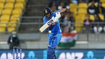 India's Manish Pandey bats during the Twenty/20 cricket international between India and New Zealand.