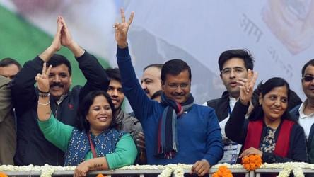 Decoding AAP's spectacular victory in 3 charts. Why BJP lost despite its gains