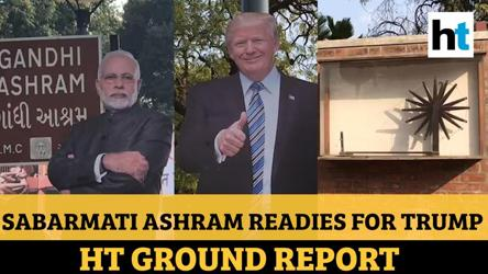 Heavy security, Modi-Trump banners: Sabarmati Gandhi Ashram prepares for visit