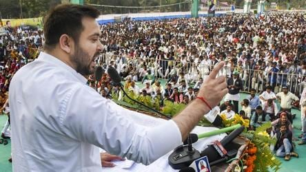 Tejashwi kicks off Bihar poll campaign says 'tired' Nitish 'saving' his job