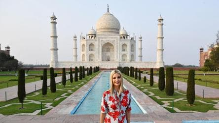 Ivanka Trump and husband Jared Kushner take tour of Taj Mahal