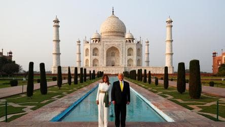6 hugs, spectacular welcome and awe-inspiring Taj Mahal on Day 1 of Trump's visit