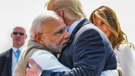 Donald Trump begins India visit with a warm hug from PM Modi, 'Namaste Trump' next