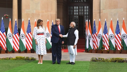 Donald Trump, Narendra Modi meet for talks at Hyderabad House