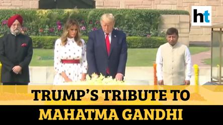 US Prez Trump, First Lady Melania pay homage to Mahatma Gandhi at Rajghat